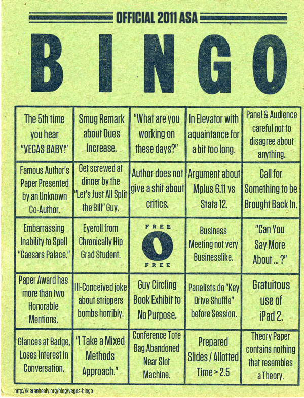ASA 2010 Bingo Card