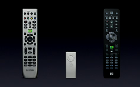 The original Apple Remote vs counterparts from Sony and Microsoft. Is this an example of compromise or lack of compromise? And which is which?